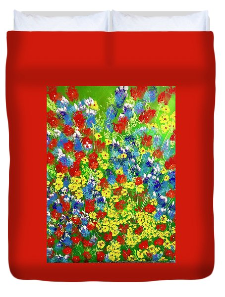 Brilliant Florals Duvet Cover