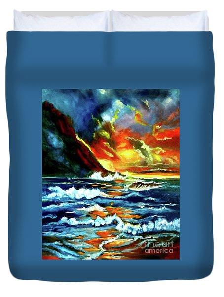 Brilliant Hawaiian Sunset Duvet Cover