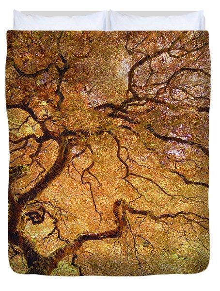 Brilliant Japanese Maple Duvet Cover