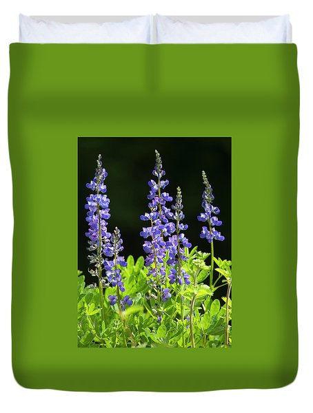 Duvet Cover featuring the photograph Brilliant Lupines by Elvira Butler