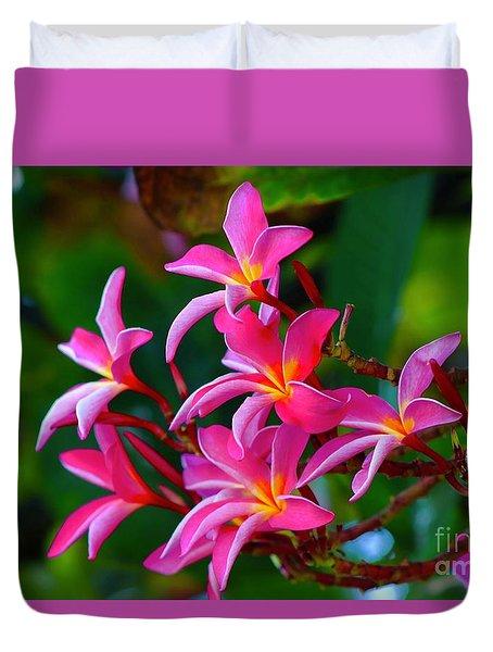 Brilliant Plumeria Duvet Cover