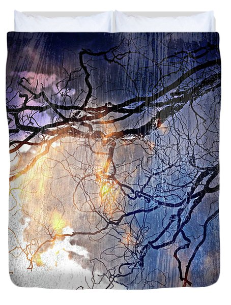Brilliant Rain Duvet Cover by Gray  Artus