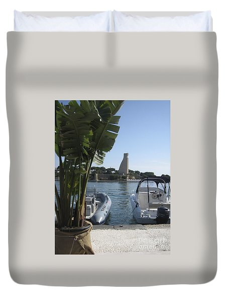 Brindisi By The Sea In May Duvet Cover