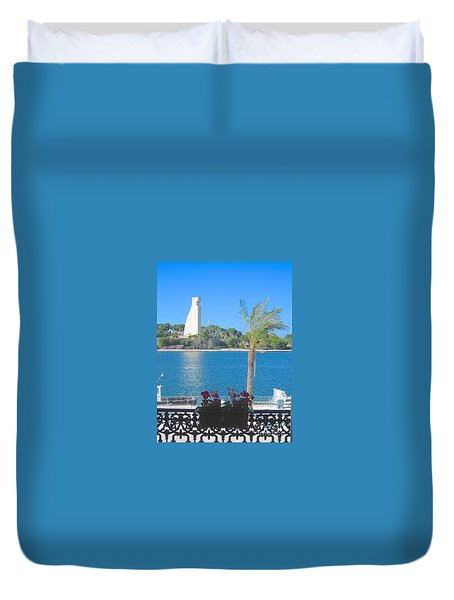 Brindisi By The Sea Duvet Cover