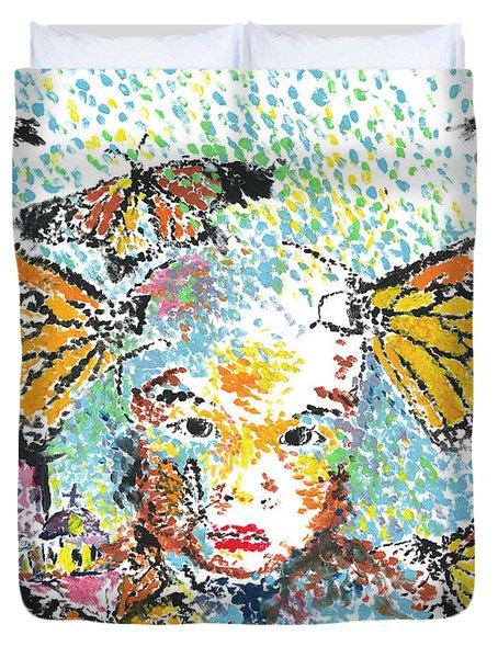 Bring Her Home Safely, Morelia- Sombra De Arreguin Duvet Cover