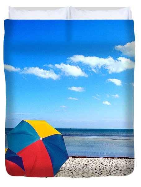 Bring The Umbrella With You Duvet Cover by Susanne Van Hulst