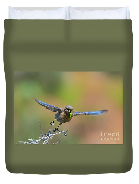 Bringing Home Breakfast Duvet Cover by Mike Dawson