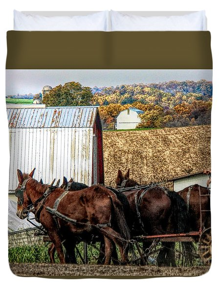 Bringing It Home In Lancaster County, Pennsylvania Duvet Cover