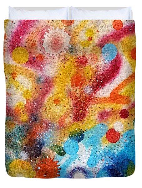 Bringing Life Spray Painting  Duvet Cover