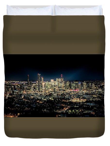 Brisbane Cityscape From Mount Cootha #7 Duvet Cover by Stanislav Kaplunov