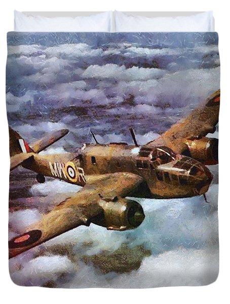 Bristol Beaufort Bomber, Wwii Duvet Cover