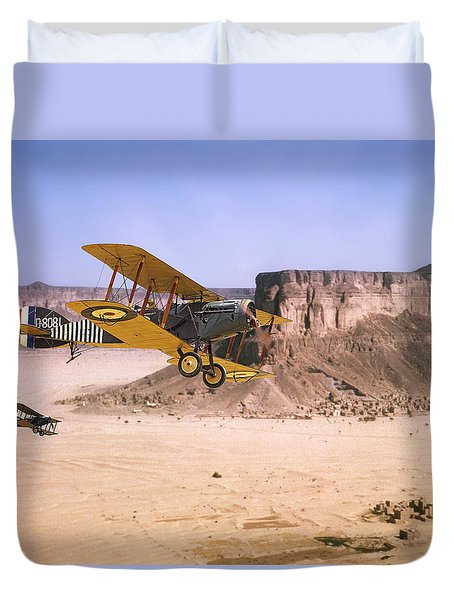 Duvet Cover featuring the photograph Bristol Fighter - Aden Protectorate  by Pat Speirs