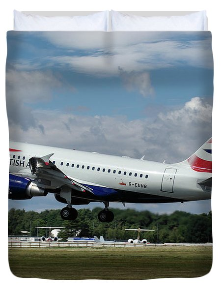 British Airways Airbus A318-112 G-eunb Duvet Cover