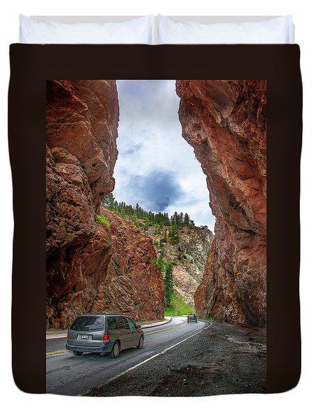 British Columbia Highway 93, Radium Hot Springs Duvet Cover