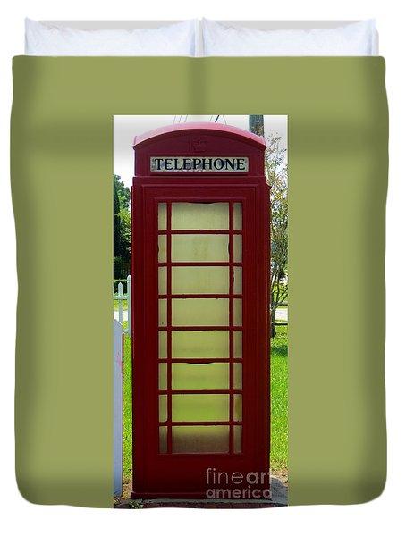 British Phone Box Duvet Cover by Tim Townsend