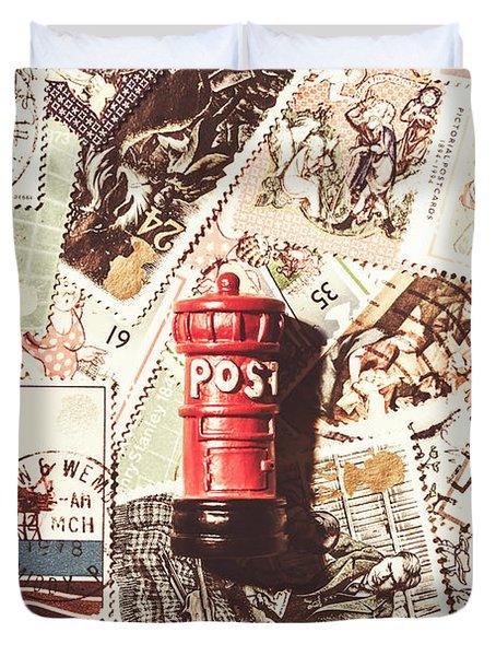 British Post Box Duvet Cover