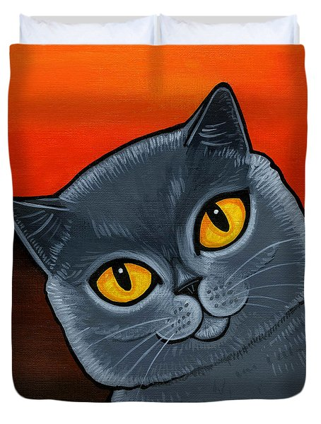 British Shorthair Duvet Cover