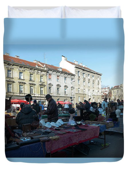 British Square Zagreb Duvet Cover by Steven Richman