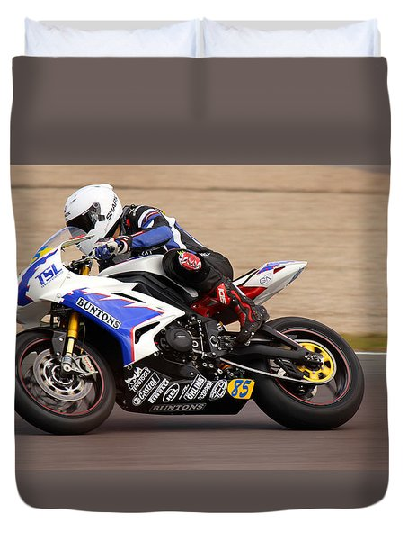 British Superbike Duvet Cover by David Warrington