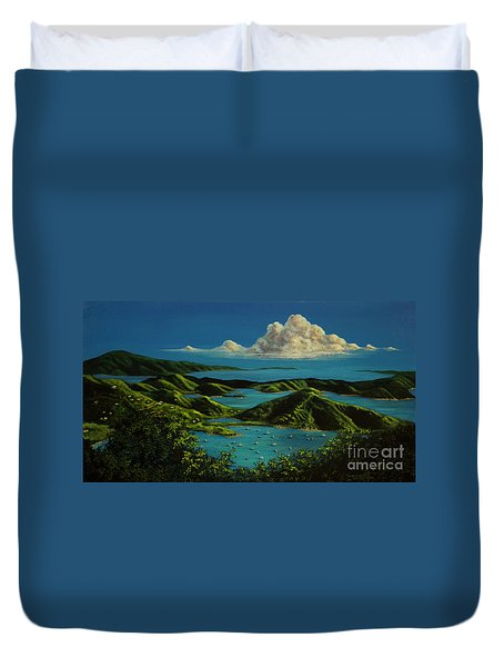 British Virgin Islands Duvet Cover