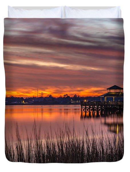 Brittlebank Park Dock Charleston Sc Duvet Cover