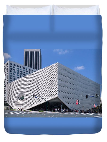 Duvet Cover featuring the photograph Broad Museum Los Angeles by Ram Vasudev