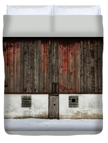 Duvet Cover featuring the photograph Broad Side Of A Barn by Julie Hamilton