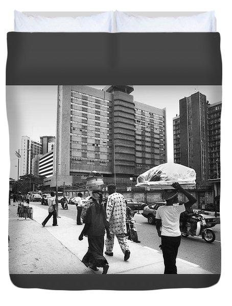 Broad Street -- Fmbn Duvet Cover