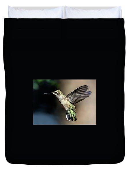 Broad-tailed Hummingbird Female Duvet Cover