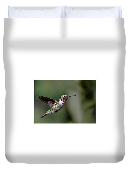 Broad-tailed Hummingbird Male Duvet Cover