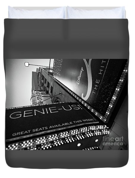 Duvet Cover featuring the photograph Broadway  -27868-bw by John Bald