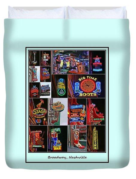 Broadway, Nashville - Collage # 2 Duvet Cover