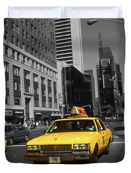 New York Yellow Taxi Cabs - Highlight Photo Duvet Cover