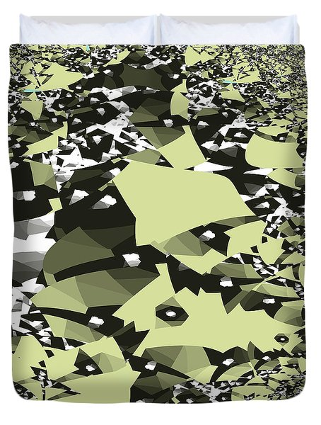 Broken Abstract Duvet Cover by Jessica Wright