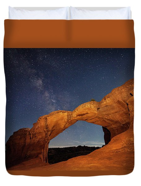Broken Arch And Milky Way Duvet Cover
