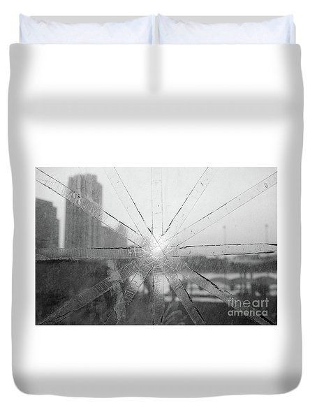 Broken Bangkok Sunset Duvet Cover