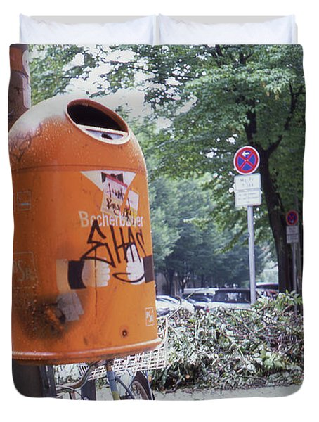 Broken Bike In Berlin Duvet Cover