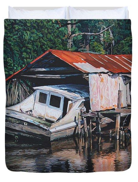 Broken Boat Duvet Cover
