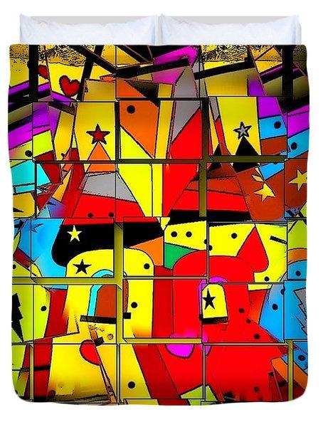 Duvet Cover featuring the digital art Broken Castle By Nico Bielow by Nico Bielow
