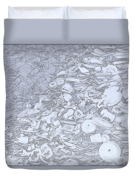 Broken Delftware China Duvet Cover