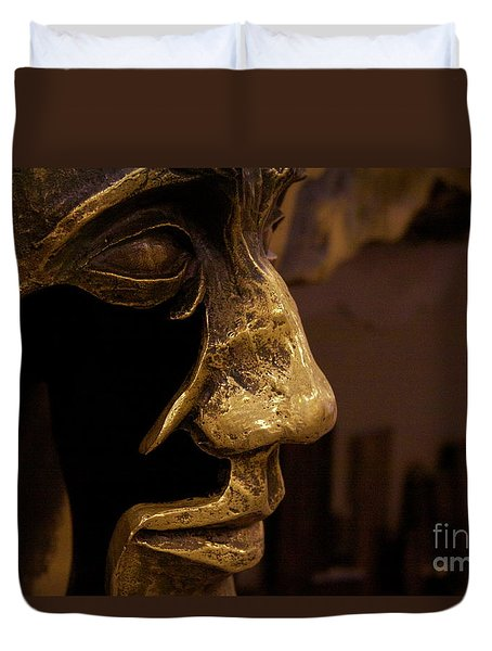 Broken Face Duvet Cover