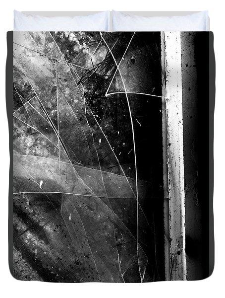 Broken Glass Window Duvet Cover