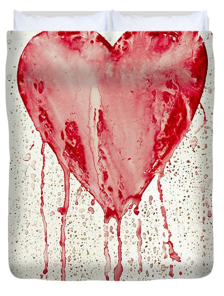 Broken Heart - Bleeding Heart Duvet Cover by Michal Boubin