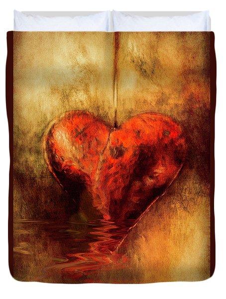Broken Hearted Duvet Cover