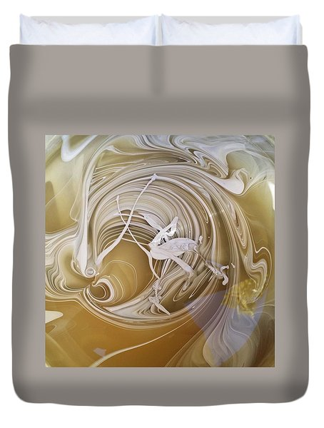 Broken Neck Flamingo Duvet Cover