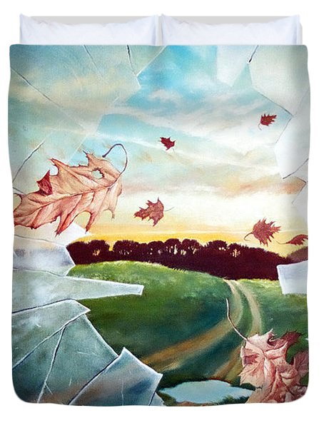Broken Pane Duvet Cover