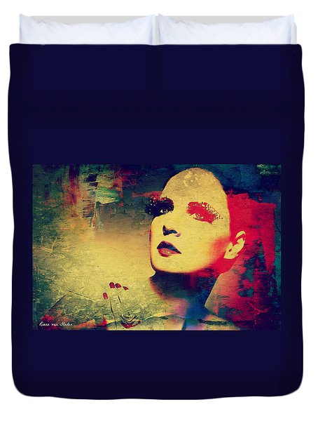 Duvet Cover featuring the digital art Broken Soul  by Riana Van Staden
