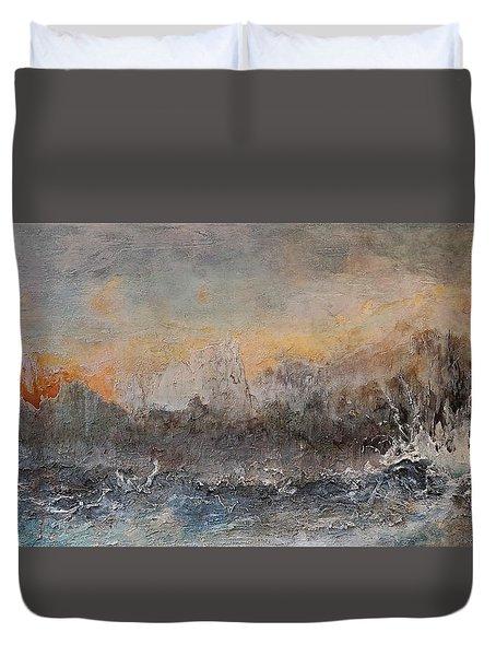 Broken Duvet Cover by Theresa Marie Johnson