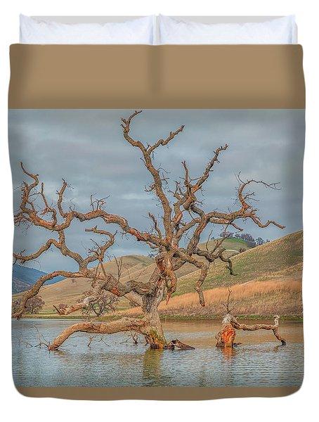 Broken Tree In Water Duvet Cover