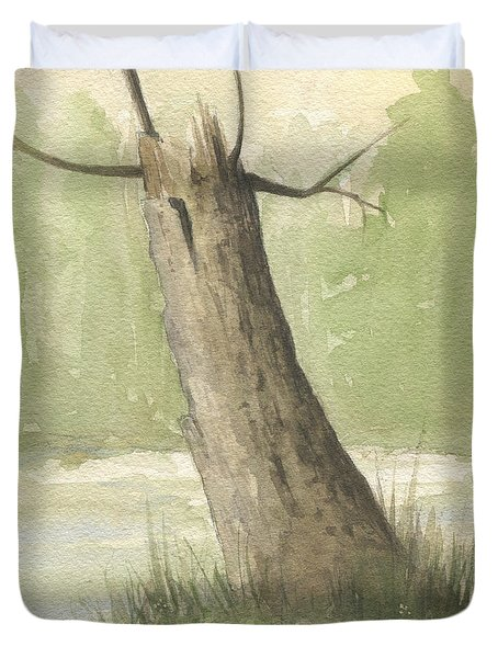 Broken Tree Duvet Cover